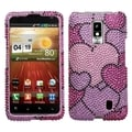 BasAcc Cloudy Hearts Diamante Case for LG VS920 Spectrum