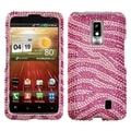 BasAcc Zebra Skin Pink/Hot Pink Diamante Case for LG VS920 Spectrum