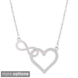 High-Polished 'Infinity Heart' Necklace