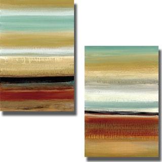 Cat Tesla 'Horizon Lines I and II' 2-piece Canvas Art Set
