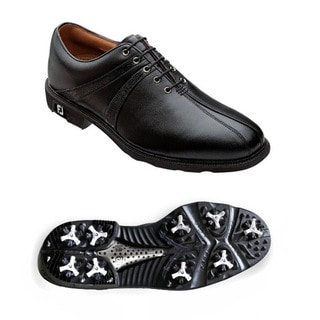 FootJoy Men's Icon Saddle Black Golf Shoes