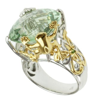 Michael Valitutti Two-tone Green Amethyst and Chrome Diopside Ring