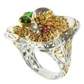 Michael Valitutti Two-tone Multi Sapphire and Chrome Diopside Ring