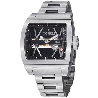 Corum Men's 'Ti Bridge' Skeleton Dial Titanium Mechanical Watch