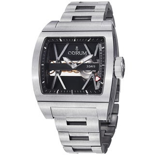 Corum Men's 'Ti Bridge' Skeleton Dial Titanium Mechanical Watch