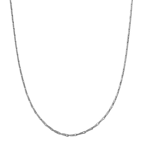 Fremada 14k White Gold Small Link Chain