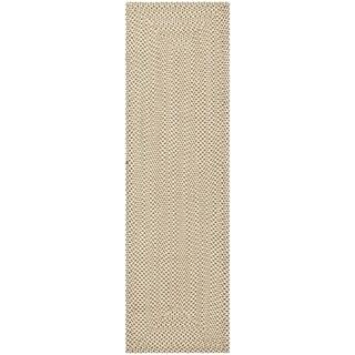 Safavieh Reversible Braided Beige/ Brown Cotton Rug (2'3 x 10')
