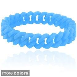 Dolce Giavonna Braided Silicone Stretch Bracelet