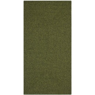 Safavieh Reversible Braided Green Rug (2'3 x 6')