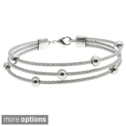 Crystale Stainless Steel 3-strand Cable Bracelet