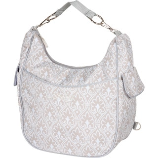 The Bumble Collection Chloe Convertible Diaper Bag in Blue Filagree