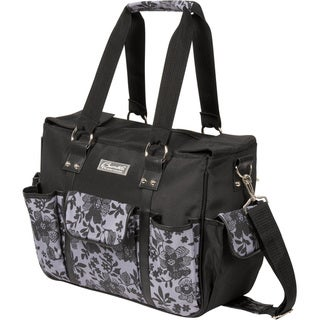 The Bumble Collection Kelly Commuter Diaper Bag in Lace Floral