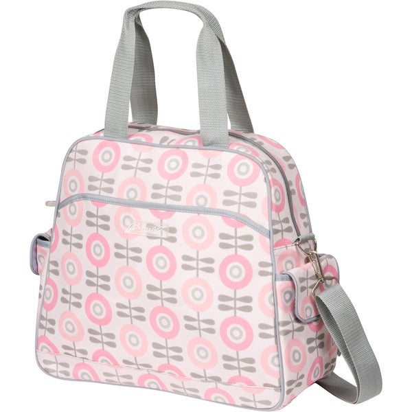 The Bumble Collection Brittany Backpack Diaper Bag in Modern Floral