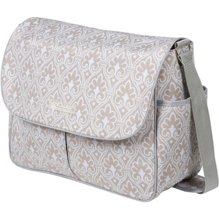 The Bumble Collection Amber Tote Diaper Bag in Blue Filagree