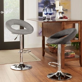 TRIBECCA HOME Clover Adjustable Swivel Barstools (Set of 2)