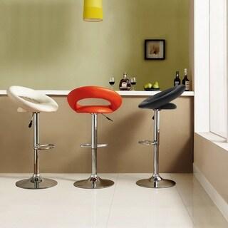 TRIBECCA HOME Clover Adjustable Swivel Barstools (Set of 2)