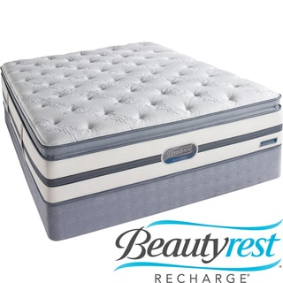 Beautyrest Recharge Lilah Plush Pillow Top Cal King-size Mattress Set