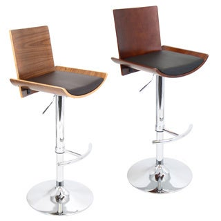 Vittorio Mid-Century Modern Wood Adjustable Barstool