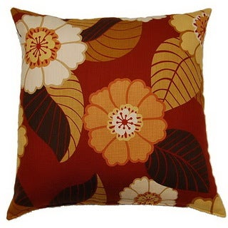 Flower Power Tomato 26-inch Throw Pillow