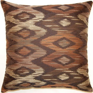 Aurora Mocha 17-inch Throw Pillows (Set of 2)