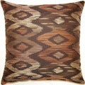 Aurora Mocha 17-inch Throw Pillows (Set of 2)