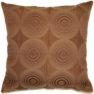 Compass Chocolate 17-inch Throw Pillows (Set of 2)