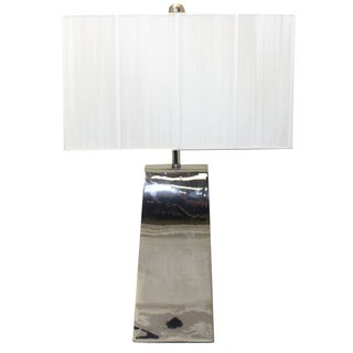 Casa Cortes Ceramic Silver Contempo 30 Inch Table Lamp