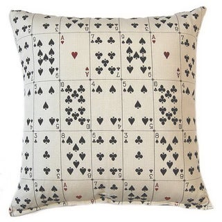 Solitaire Parchment 17-inch Throw Pillows (Set of 2)