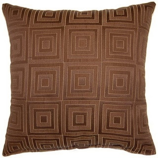 Squared Chocolate 17-inch Throw Pillows (Set of 2)
