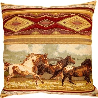 Libertys Ride Rustic 26-inch Throw Pillow