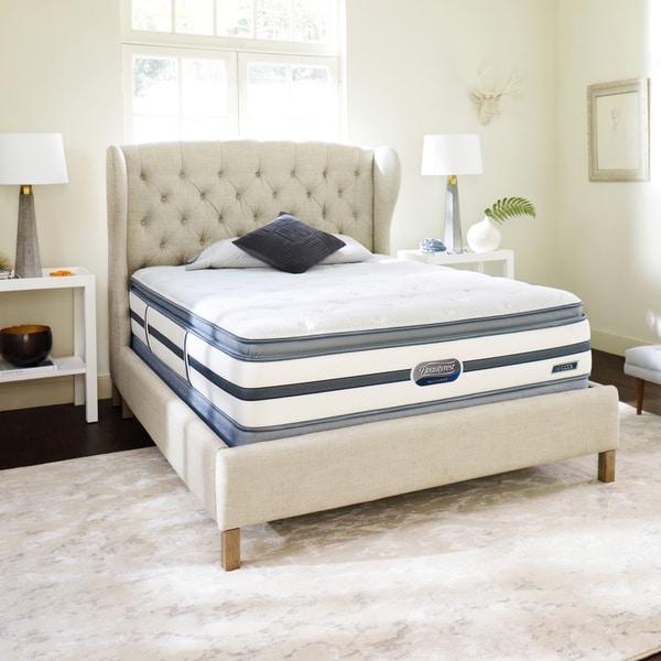 Beautyrest Recharge Reynaldo Plush Pillow Top Cal King Size Mattress Set Overstock Shopping