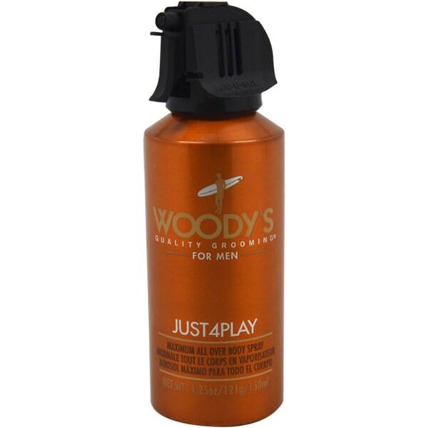 Woody's Just4Play Men's Maximum All Over Body Spray