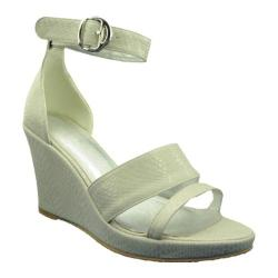 Women's Ann Creek Linen Wedge Sandal Linen White