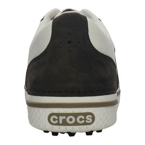 Men's Crocs Preston Golf Espresso/White