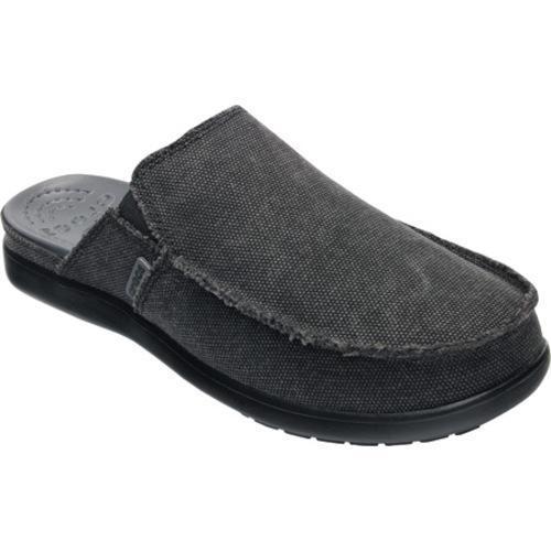 Men's Crocs Santa Cruz Flatbed Clog Black/Black