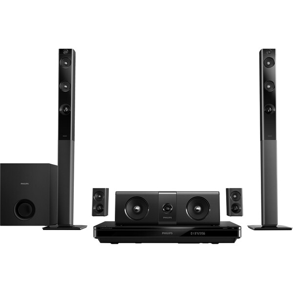 Philips HTB5544D 5.1 3D Home Theater System - 1000 W RMS - Blu-ray Di