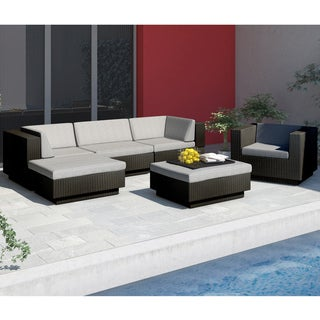 Sonax 'Park Terrace' Textured Black 6-piece Sectional Patio Set