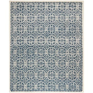 Safavieh Handmade Moroccan Cambridge Navy Blue Ivory Wool