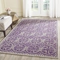 Safavieh Handmade Moroccan Cambridge Purple/ Ivory Wool Rug (11' x 15')
