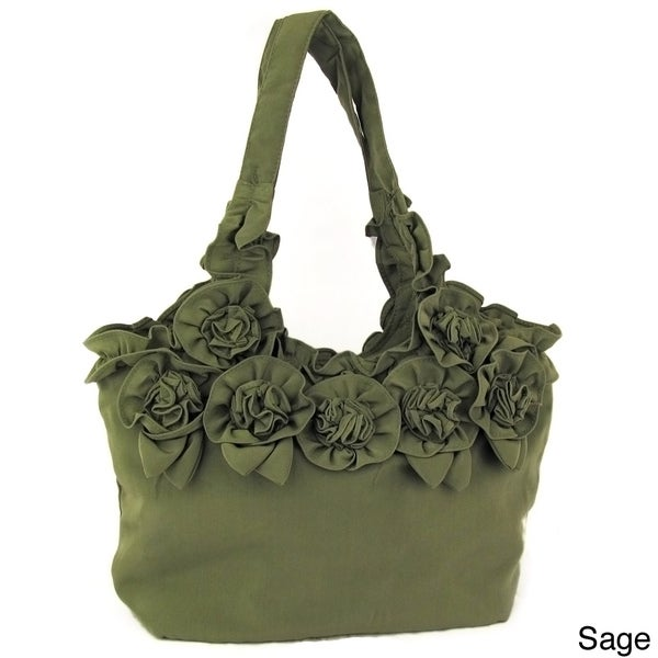Joy Susan Fabric Rose Handbag