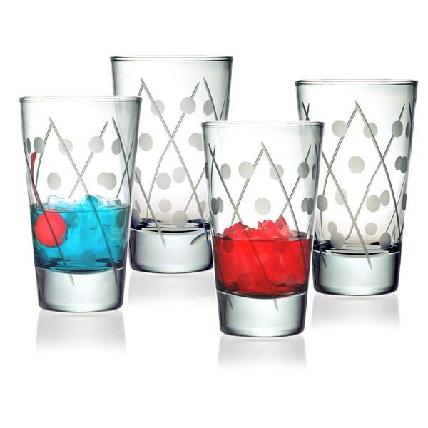 Twist Collection Hiball Glasses (Set of 4)
