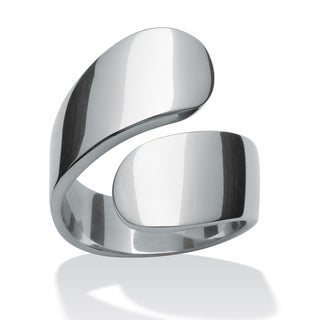 Toscana Collection Stainless Steel Bypass Ring