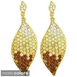 Kate Marie Rhinestone Leaf Design Earrings