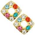 Kate Marie Square Multi-colored Fashion Earrings