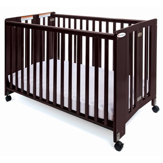 Foundations HideAway Full-size Folding Crib in Cherry