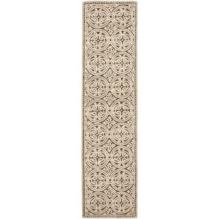 Safavieh Handmade Moroccan Cambridge Tan Wool Rug (2'6 x 14')