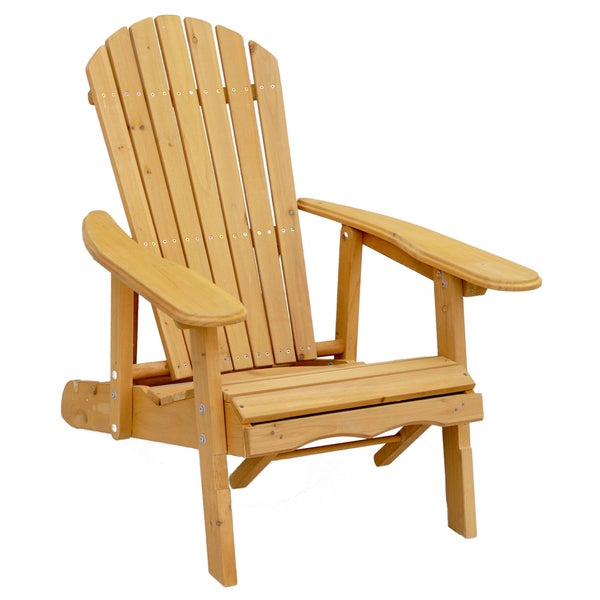 Reclining adirondack chair with pull out ottoman for Chaise adirondak