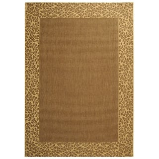Safavieh Indoor/ Outdoor Courtyard Brown/ Natural Rug (9' x 12')
