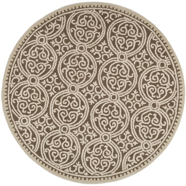 Safavieh Handmade Moroccan Cambridge Tan Wool Rug (10' Round)