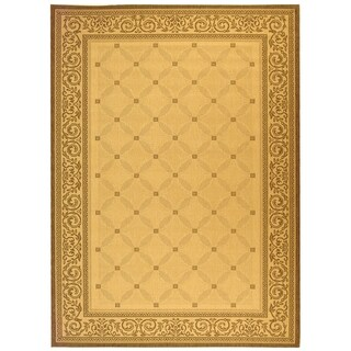 Safavieh Indoor/ Outdoor Courtyard Natural/ Brown Rug (9' x 12')